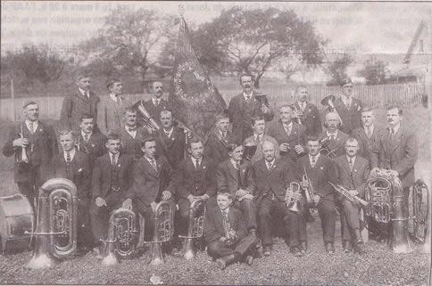 Photo de la fête des musiques en 1924 à Châtel-St-Denis
